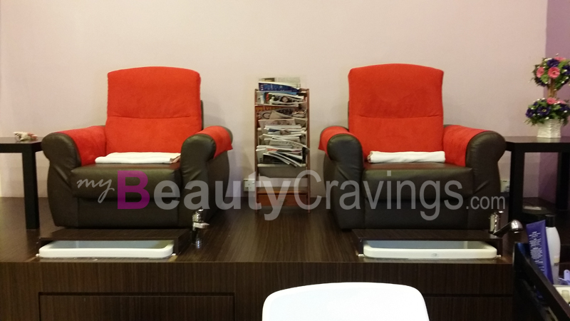 Cosy corner of De' Touch Beauty Care Nail Salon