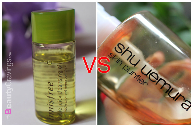 Shu Uemura vs Innisfree Apple Juicy Cleansing Oil