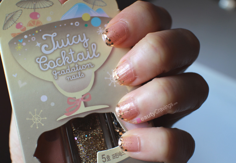 Etude Juicy Cocktail Gradation Nails