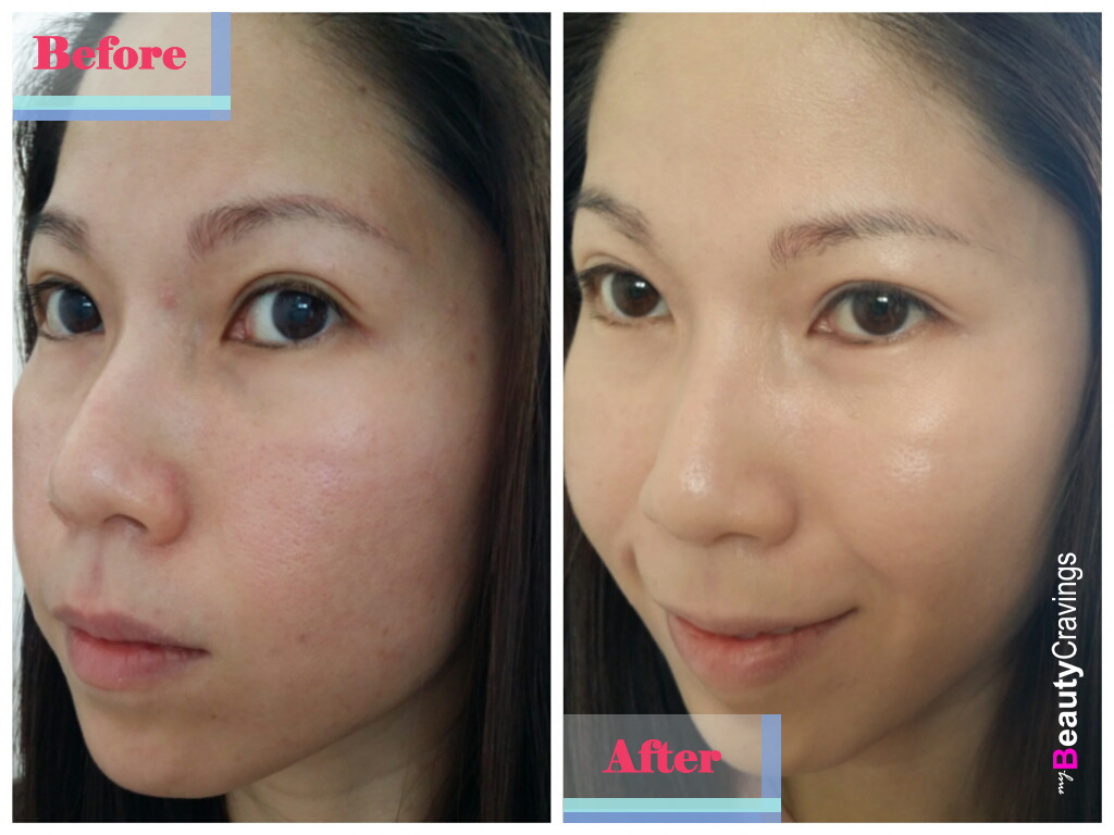 Lancome Teint Miracle - Before & After