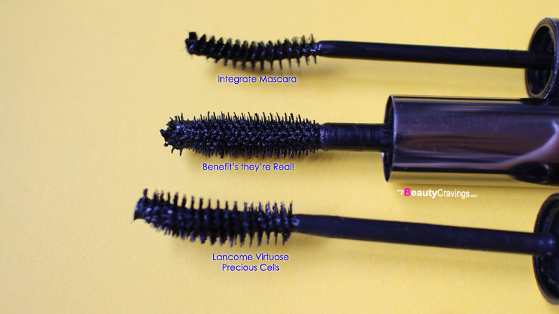 Brush comparison (Benefit they're Real! Mascara)