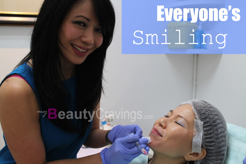 Why is everyone smiling? It's an injection!