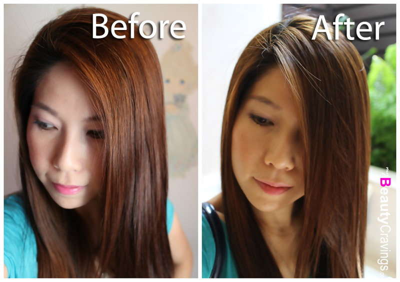 Before-After a haircut at Kimage (Tampines)