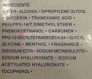 Aqualabel Jelly Essence (Ingredients)