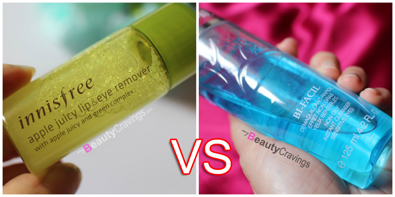 Innisfree Apple Eye vs Lancome Bi-Facil