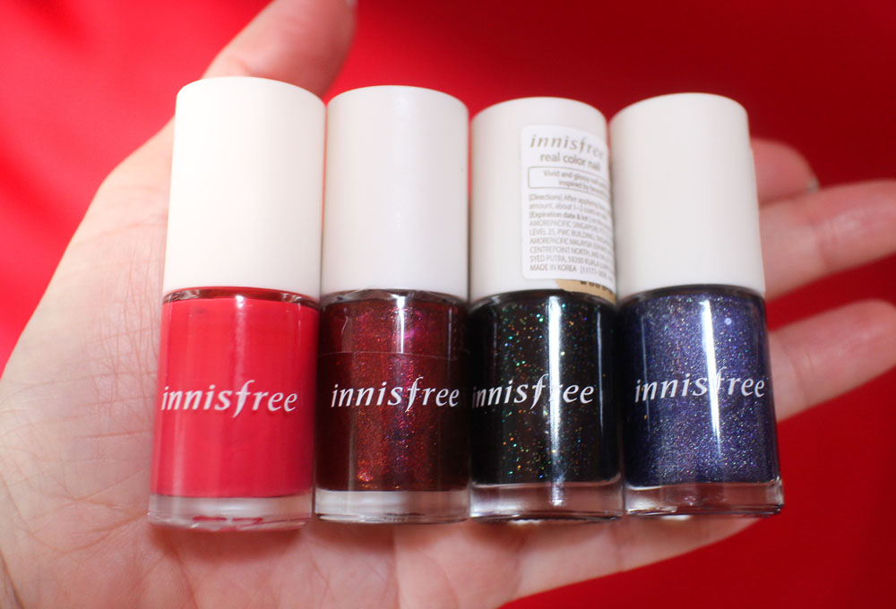 Innisfree Real Color Nail Swatch - 10, 58, 67, 32
