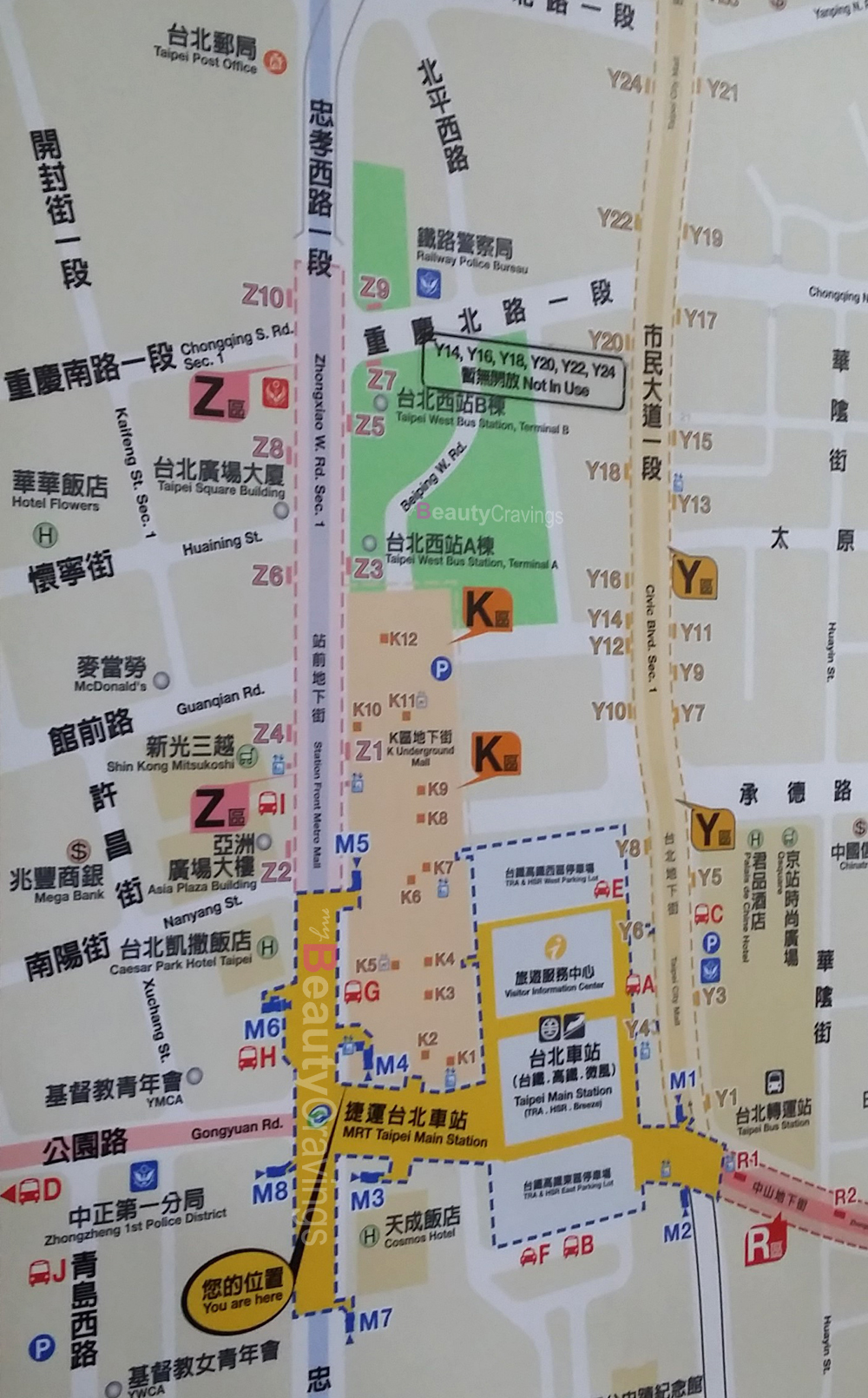 Taipei Main Station Map