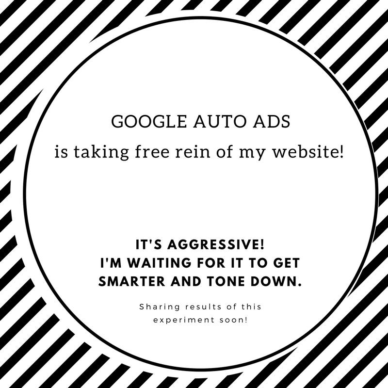 Google Auto Ads Experiment