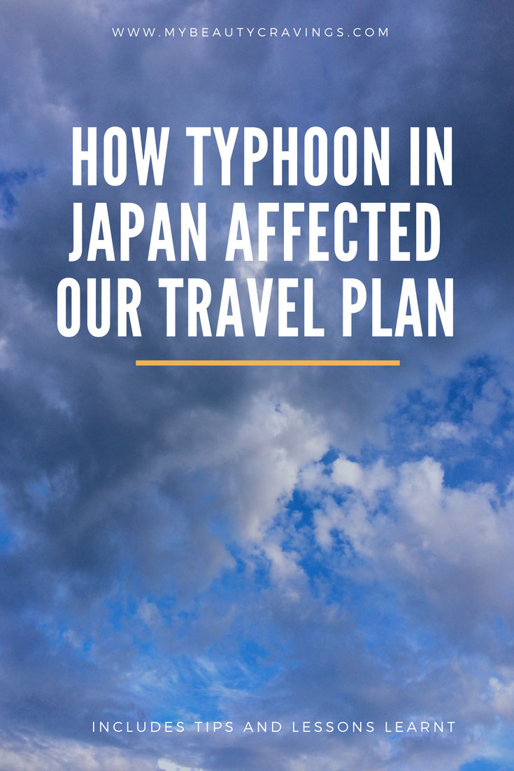 Typhoon in Japan