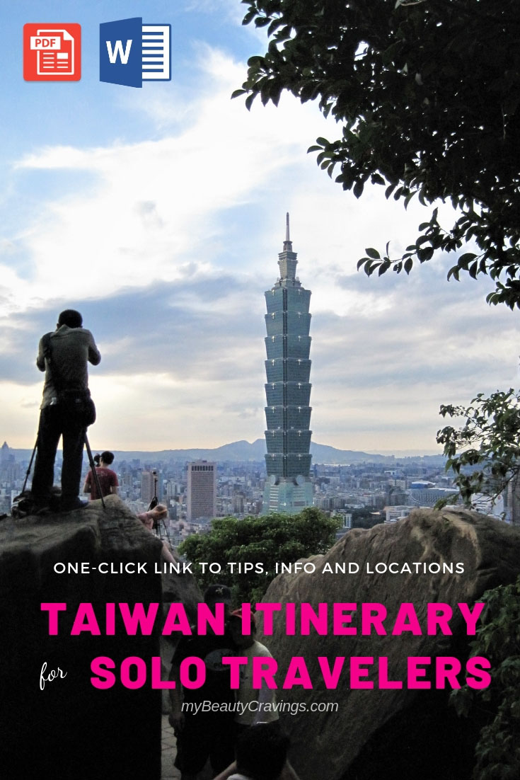 Taiwan Itinerary for Solo Traveler (Bundle)