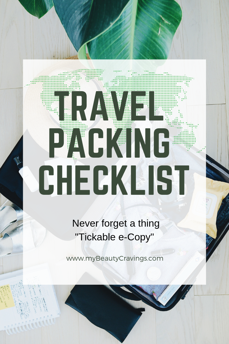 TRAVEL PACKING CHECKLIST Pin