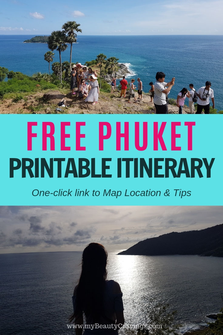 Phuket Pocket Itinerary PIN
