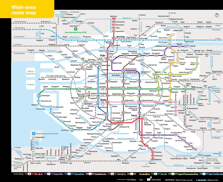 Osaka Train Network