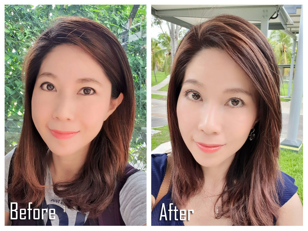 Kimage Hair Colouring Before After 3