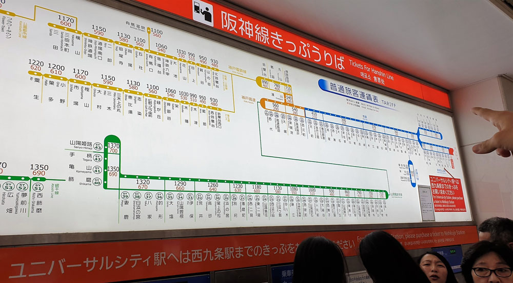 Namba Station Route Map & Price
