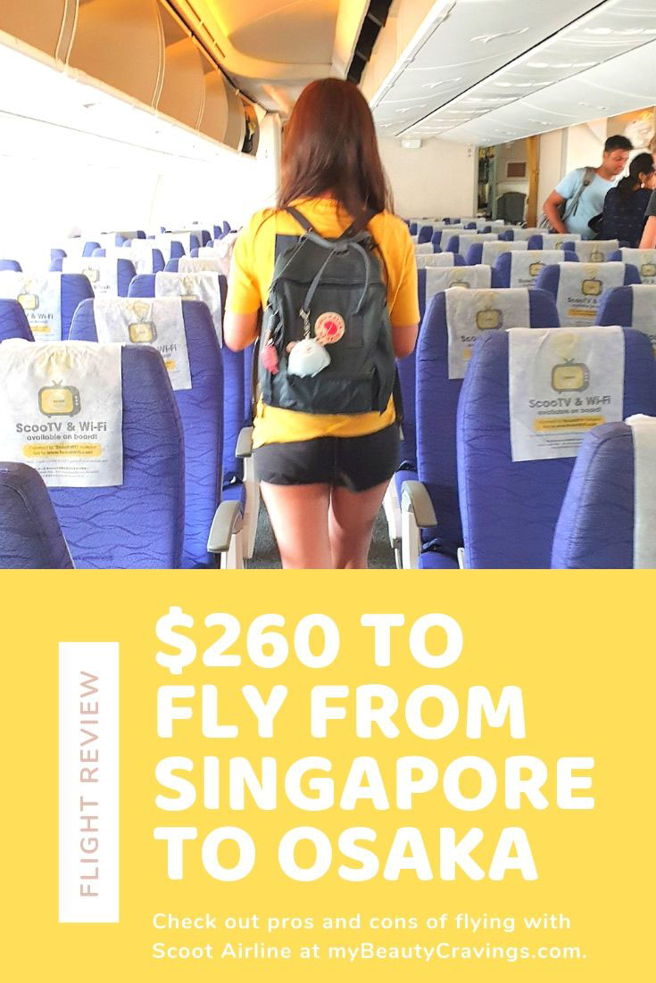 Scoot Singapore to Osaka TR804 Review