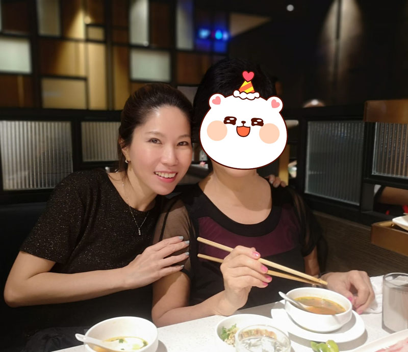Birthday celebration with mom