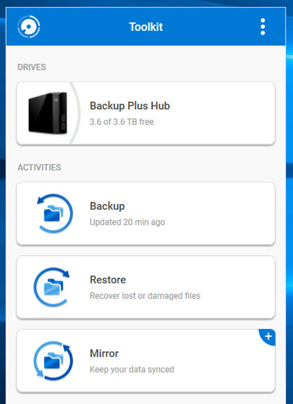 Seagate External Hard Drive Backup Software