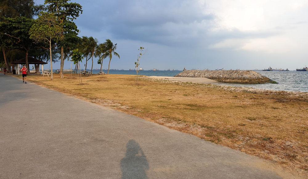 Brisk-walking at East Coast Park