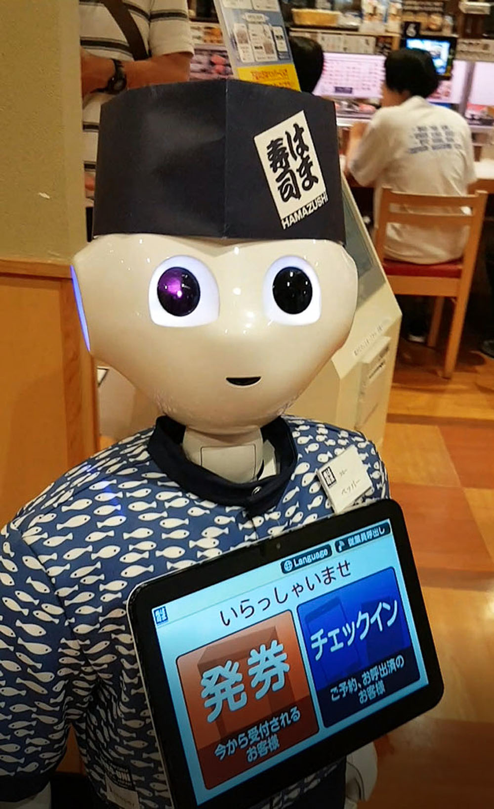 Hamazushi Robot in Japan