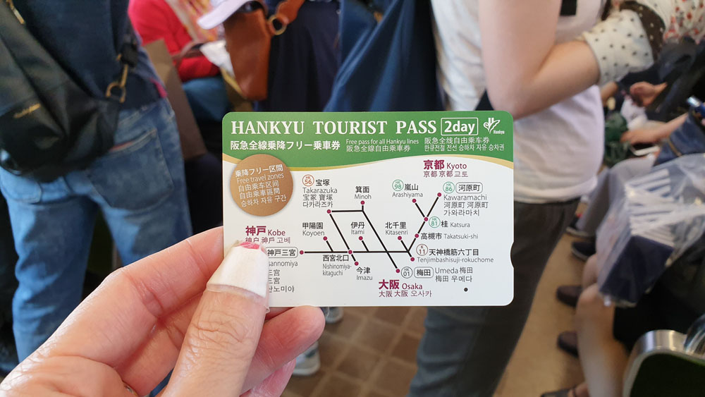 Hankyu 2 Days Pass itinerary