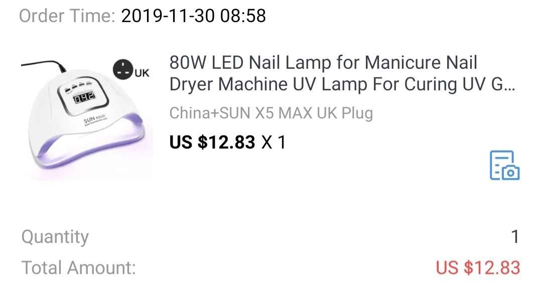 LED Nail Lamp from Aliexpress