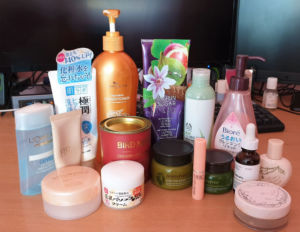 beauty products emptied
