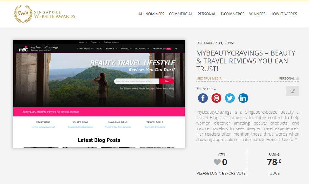 Singapore Website Awards