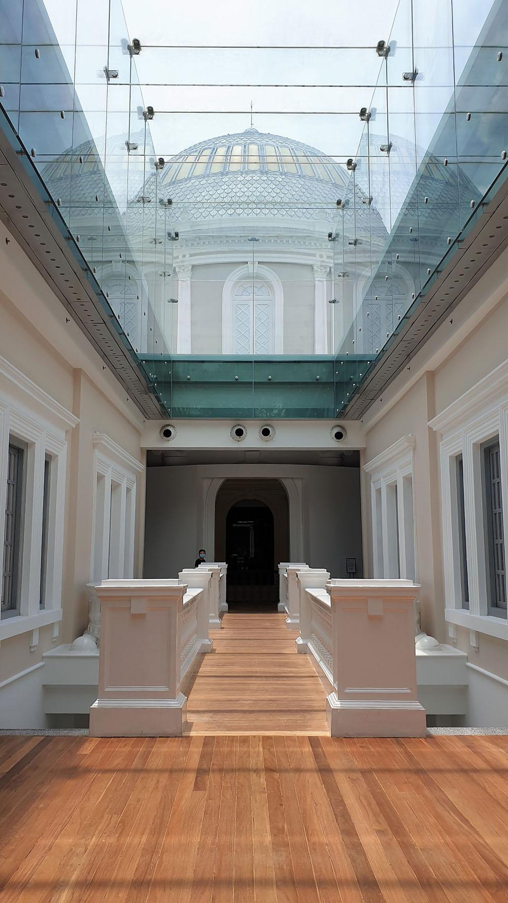 Interior design at National Museum of Singapore