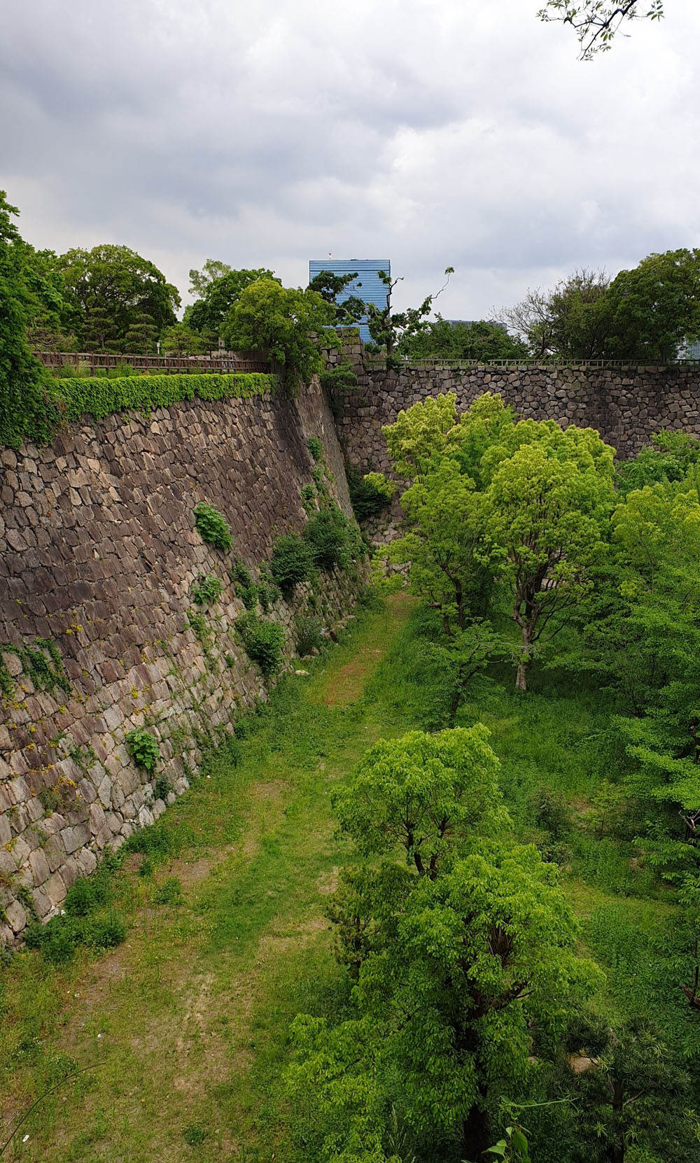 Osaka Castle Stone Walls