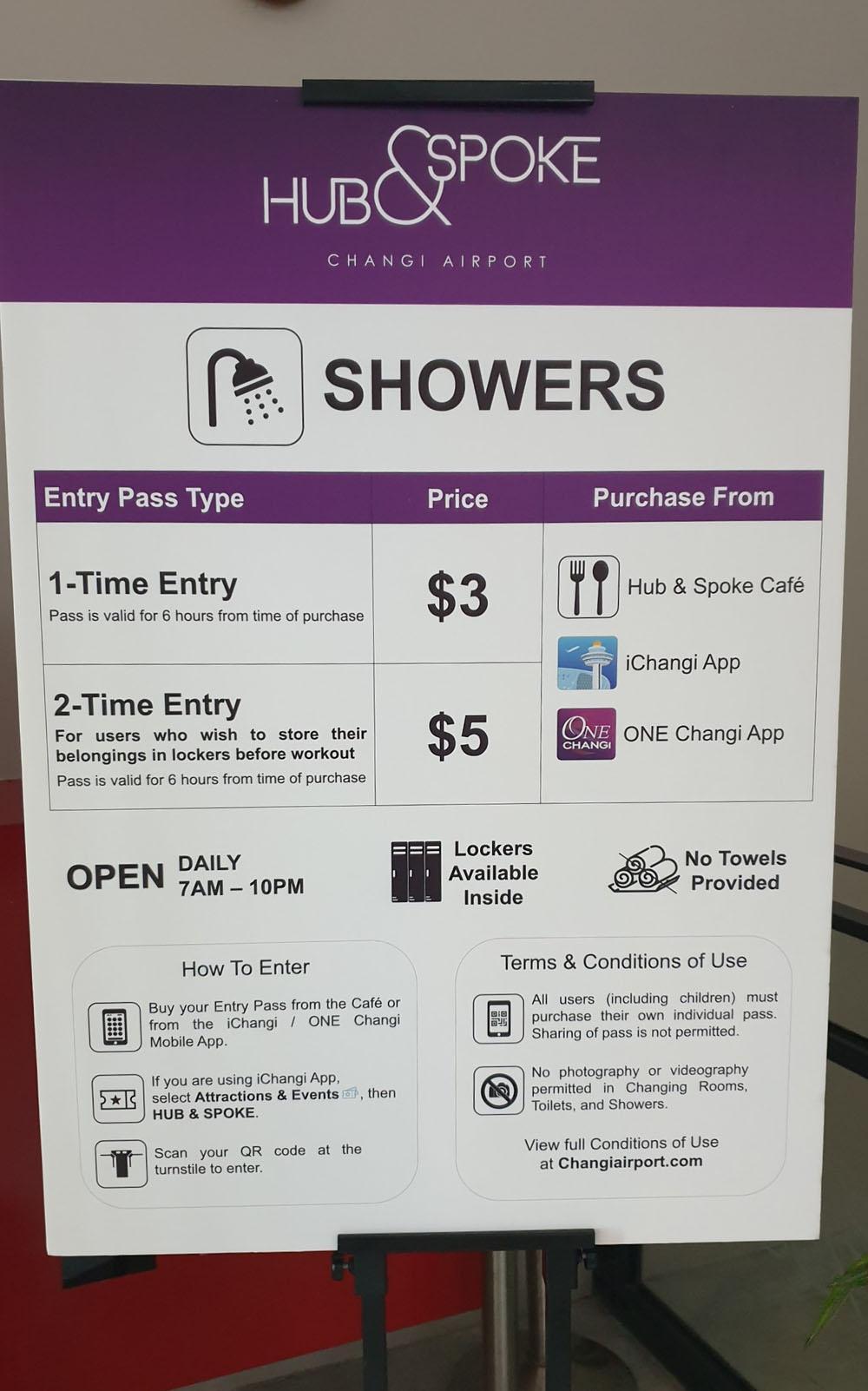 Hub & Spoke Cafe Shower Fee