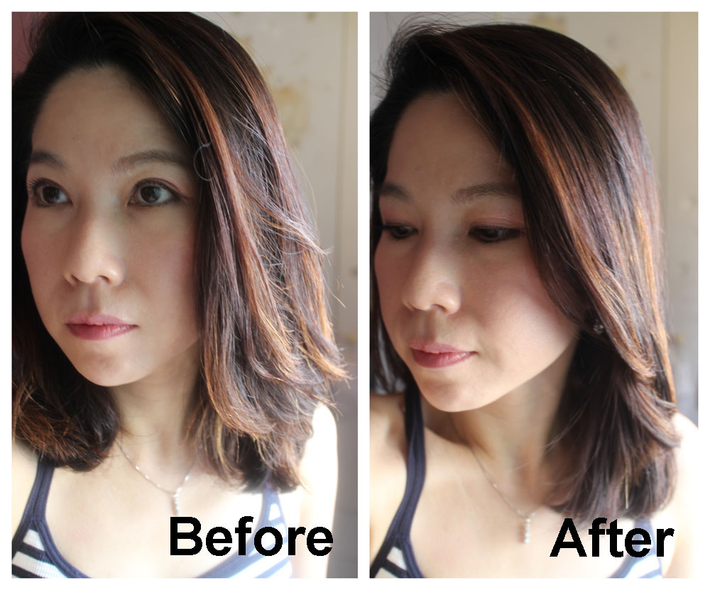 Goldwell Smoothing Fluid Before After