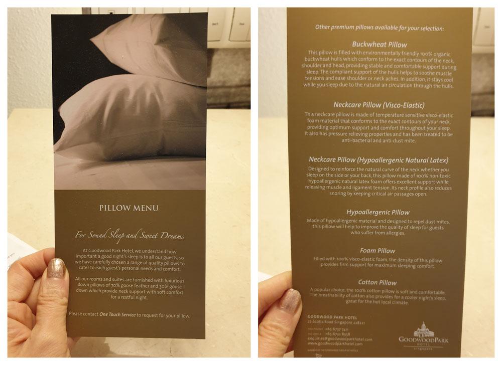 Goodwood Park Hotel Room Amenities